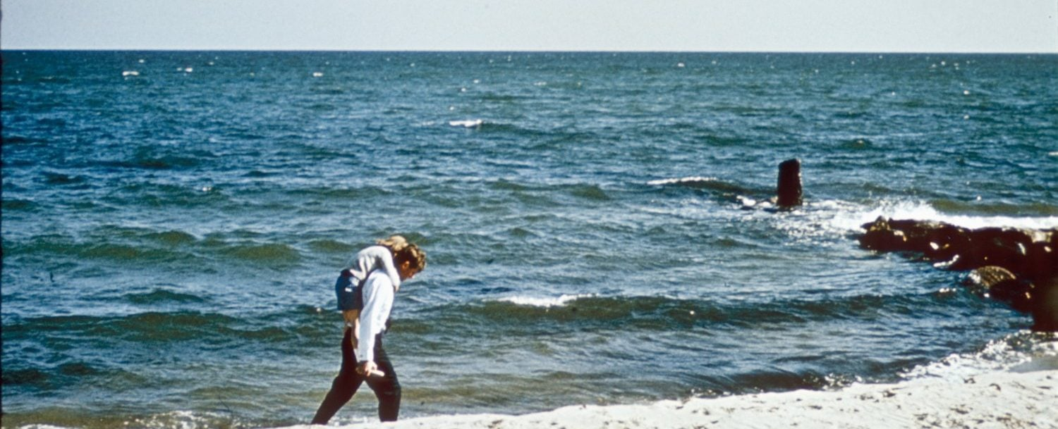 Kennedys walking on the beach on Cape Cod near the Kennedy Compound