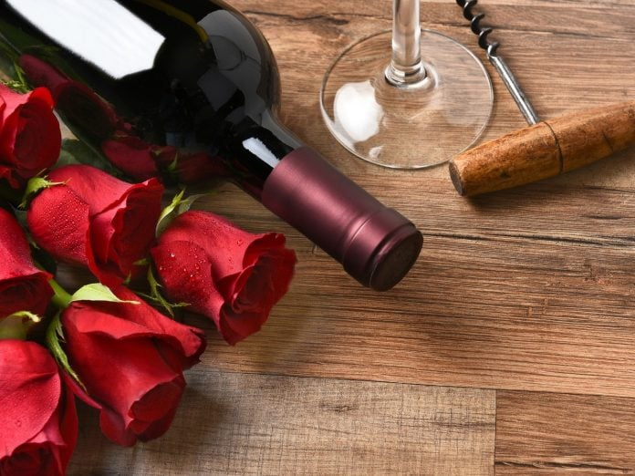 Red Roses and Wine for a Cape Cod Valentine's Day